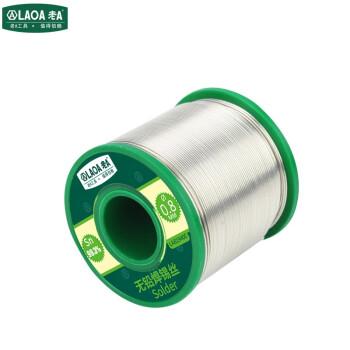 老A(laoa)带松香芯焊锡丝0.8mm活性无铅含锡99.3% 高纯度 免清洗 LA819400 无铅焊锡丝 400G